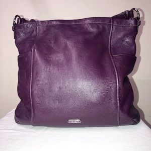 Coach plum colored shoulder bag